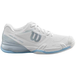 Wilson Women's Rush Pro 2.5 Tennis Shoes (White/Pearl Blue/Cashmere Blue)