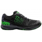 Wilson Men's Kaos 2.0 Tennis Shoes (Black/Ebony/Green Gecko) - Men's Tennis Shoes