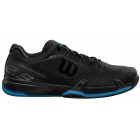 Wilson Men's Rush Pro 2.5 Tennis Shoes (Black/Hawaiian Blue) - Performance Tennis Shoes