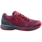 Wilson Women's Kaos 2.0 Tennis Shoes (Plum/Flint Stone/Neon Red) - Types of Tennis Shoes