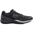 Wilson Men's Rush Pro 3.0 Tennis Shoes (Black/Ebony/White) - 6-Month Warranty Shoes