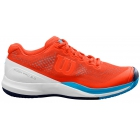 Wilson Men's Rush Pro 3.0 Tennis Shoes (Tangerine Tango/White/Bonnie Blue) - Specials & Deals on Premium Tennis Gear