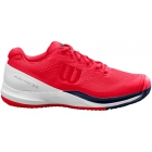 Wilson Women's Rush Pro 3.0 Tennis Shoes (Lollipop/White/Peacoat) - Women's Tennis Shoes