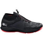 Wilson Men's Kaos 3.0 SFT Tennis Shoes (Black/White/Fiery Coral) - Wilson Tennis Shoes