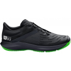 Wilson Men's Kaos 3.0 Tennis Shoes (Black/Ebony/Blade Green) - How To Choose Tennis Shoes