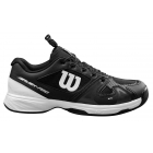 Wilson Junior Rush Pro QL Tennis Shoes (Black/White/Black) - Wilson Tennis Shoes
