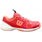 Wilson Junior Rush Pro QL Tennis Shoes (Cayenne/White/Papaya Punch) - Wilson Tennis Shoes