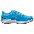 Wilson Junior Kaos 3.0 Tennis Shoes (Bonnie Blue/White/Tangerine Tango) - Wilson Tennis Shoes