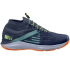 Wilson Men's Kaos 3.0 SFT Paris Tennis Shoes (Sargasso Sea/Shocking Orange/Green Gecko) - New Tennis Shoes