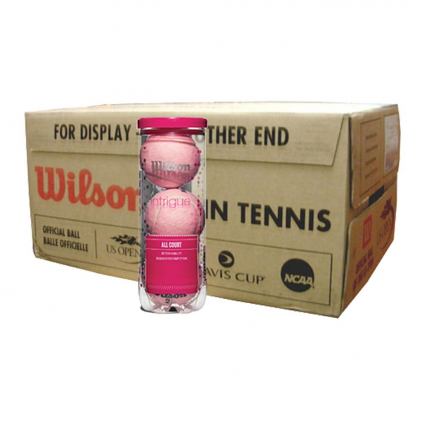 Wilson Intrigue All Court Pink Tennis Ball Half Case (36 Balls)