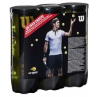 Wilson US Open 40th Anniversary Sweepstakes Extra Duty Tennis Balls, 3-Can Case (9 Balls) - Tennis Balls