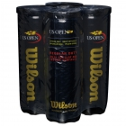 Wilson US Open Regular Duty Tennis Balls, 3 Ball Can (4-Pack) -