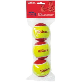 Wilson US Open Red Felt Balls 3 Pack