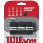 Wilson Advantage Overgrip 3-pack (Blk) - Absorbent Over Grips