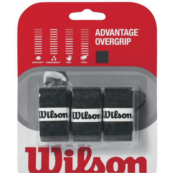 Wilson Advantage Overgrip 3-pack (Black)