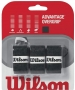 Wilson Advantage Overgrip 3-pack (Blk) - Tennis Over Grips