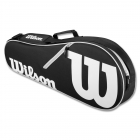 Wilson Advantage II 3-Pack Tennis Bag (Black/White) - 3 Racquet Tennis Bags