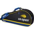 Wilson US Open 3 Pack Tennis Bag (Black/Blue/Yellow) - 3 Racquet Tennis Bags