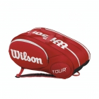 Wilson Tour Mini 6 Pack Tennis Bag (Red/ White) - Wilson Tennis Bags