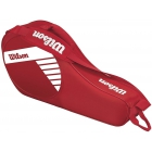 Wilson Junior 3 Pack Tennis Bag (Red/White) - Wilson Junior Tennis Bags