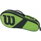 Wilson Match III 3 Pack Tennis Bag (Green/Black) - Wilson