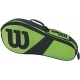 Wilson Match III 3 Pack Tennis Bag (Green/Black) - Tennis Racquet Bags