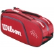 Wilson Federer Collection 6 Pack Tennis Bag (Red/ Blk Wht) - Federer