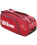 Wilson Federer Elite 12 Pack Tennis Bag (Red/ Blk Wht) - Wilson Federer Tennis Bags