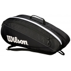 Wilson Federer Team 6 Pack Tennis Bag (Black/White) - - Best Selling Tennis Gear. Discover What Other Players are Buying!