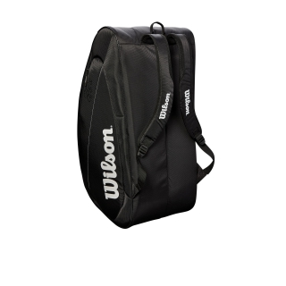 Wilson Federer Team 12 Pack Tennis Bag (Black/White)