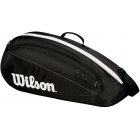 Wilson Federer Team 3 Pack Tennis Bag (Black/White) - 3 Racquet Tennis Bags