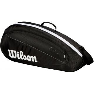 Wilson Federer Team 3 Pack Tennis Bag (Black/White)