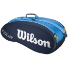 Wilson Tour Molded 6 Pack Tennis Bag (Blue) - Wilson Tour Series Tennis Bags