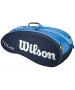 Wilson Tour 6 Pack Tennis Bag (Blue) - 6 Racquet Tennis Bags