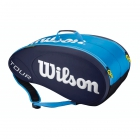 Wilson Tour Molded 9 Pack Tennis Bag (Blue/ White) - 7 Racquet Tennis Bags