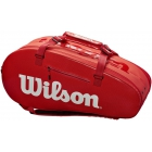 Wilson Large Super Tour 2 Compartment Tennis Bag - 9 and 12+ Racquet Tennis Bags