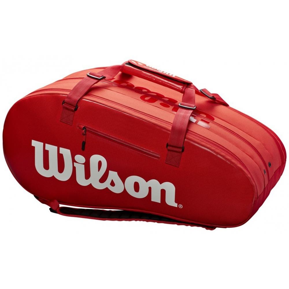 Wilson Super Tour 3 Compartment Tennis Bag (Red)