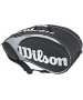 Wilson Tour 9 Pack  Bag (Blk/ Sil) - Wilson Tour Series Tennis Bags