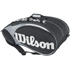 Wilson Tour 15 Pack  Bag (Blk/ Sil) - 7 Racquet Tennis Bags