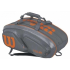 Wilson Tour V 15 Pack Tennis Bag (Grey/Orange) - Wilson Tour Tennis Bags