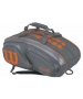 Wilson Tour V 15 Pack Tennis Bag (Grey/Orange) - Wilson Tennis Bags