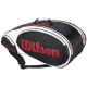 Wilson Tour 9 Pack Bag (Blk/ Wht/ Red) - Wilson Tour Series Tennis Bags