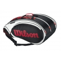 Wilson Tour 15 Pack  Bag (Blk/ Wht/ Red)
