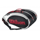 Wilson Tour 15 Pack  Bag (Blk/ Wht/ Red) - 7 Racquet Tennis Bags