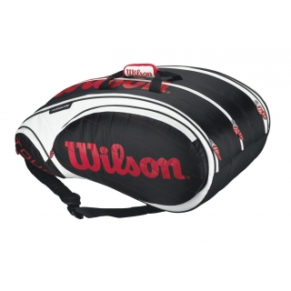 Wilson Tour 15 Pack Tennis Bag (Blk/ Wht/ Red)
