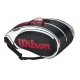 Wilson Tour 15 Pack  Bag (Blk/ Wht/ Red) - Wilson Tour Series Tennis Bags
