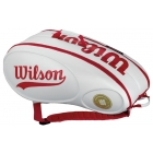 Wilson 100 Year Tour 9 Pack Tennis Bag (White/ Red) - Tennis Bag Types