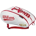 Wilson 100 Year Tour 15 Pack Tennis Bag (White/ Red)