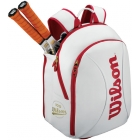 Wilson 100 Year Tour Small Backpack (White/ Red) - Tennis Backpacks