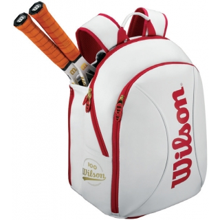 Wilson 100 Year Tour Small Backpack (White/ Red)